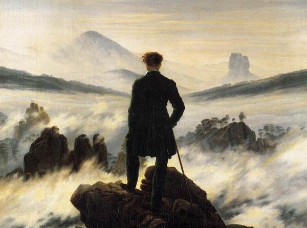 'Wanderer above the Sea of Fog' Caspar David Friedrich 1818