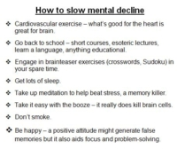 slow-mental decline