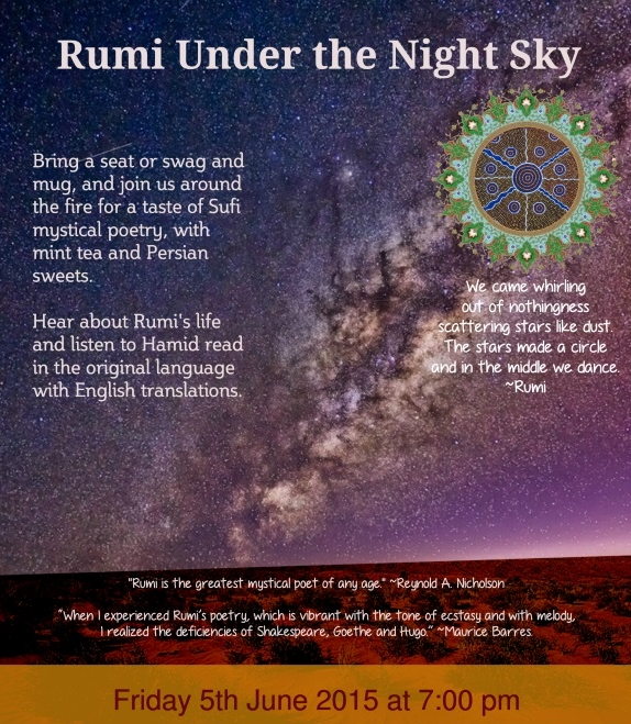Rumi Under Night Sky
