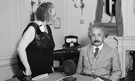 Albert Einstein and his second wife